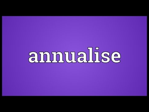 Header of Annualise