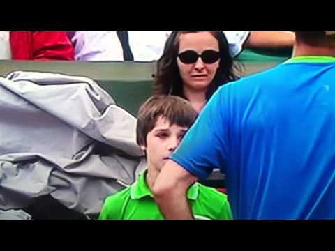 Tennis Ball Boy Really Bad Mistake Murray Troicki tennis Match