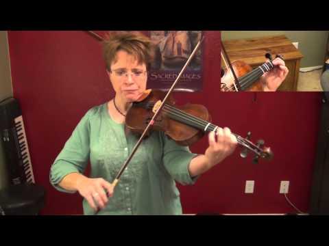 Suzuki Violin Book 3, No. 7: Bach Bourree, violin only