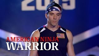 Drew Drechsel at Stage 1 of American Ninja Warrior USA vs. The World 2015  | American Ninja Warrior