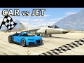 GTA V - Car vs Jet [Drag Race]