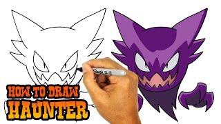 Download How to Draw Haunter | Pokemon 3Gp Mp4