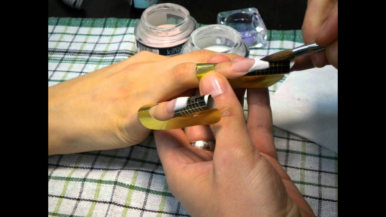 Наращивание ногтей френч гелем пошаговое фото