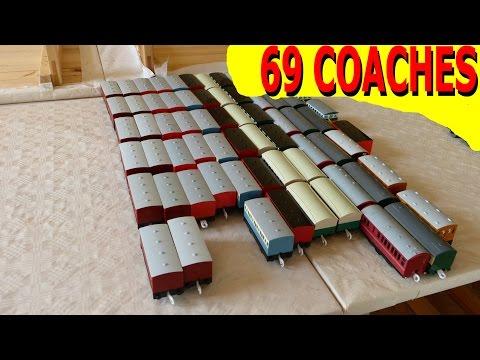 プラレール Tomy Thomas - Longer trains Vol.22: 69 coaches running at the same time [HD]