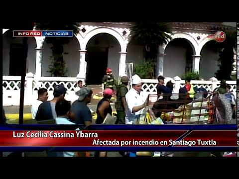 Se propaga incendio en Santiago Tuxtla culpan a Protección Civil Municipal