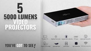 5000 Lumens Video Projectors [2018]: Toumei Mini Projector projetor HD Pico Portable audio video