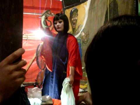 Japanese Lady Eating Snake video