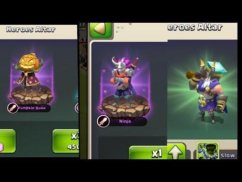 Castle Clash - 3 Legendary Heroes in a ROW!! (Pumpkin Duke, Ninja