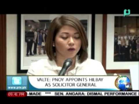 [NewsLife] Valte: PNoy appoints Atty. Hilbay as solicitor general