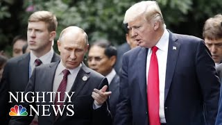 President Donald Trump At NATO Summit: 'Germany Is Totally Controlled By Russia' | NBC Nightly News