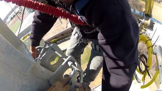 GoPro Cell Tower Work: Flying AT&T Platform