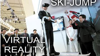 Virtual Reality (VR) Ski-Jump Experience using an Oculus VR Inc. Rift headset