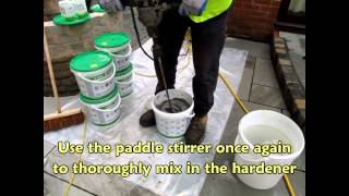 Jointing a pavement with Gftk 815+ resin mortar
