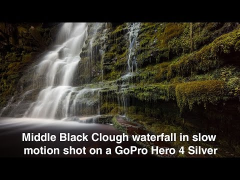 Middle Black Clough waterfall shot on a GoPro Hero 4 Silver