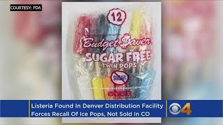 Ice Pops Recalled After Possible Listeria Contamination At Denver Facility