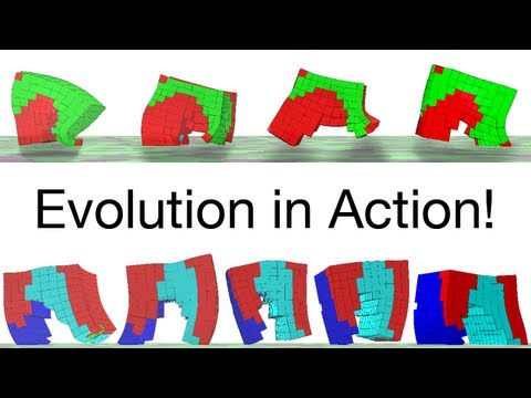 Evolving Soft Robots with Multiple Materials (muscle, bone, etc.)