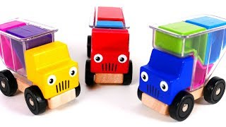 Learn Colors with Trucky Playset toy Trucks for Children