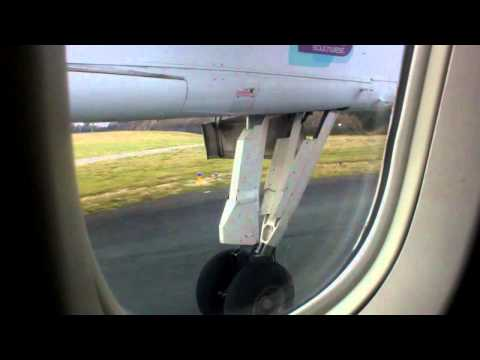 Air Southwest - Take off from Plymouth Dash 8-300 Chilly morning