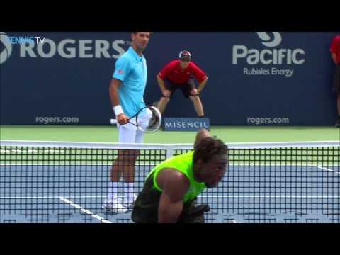 Gael Monfils Top 5 Moments Versus Djokovic Toronto 2014