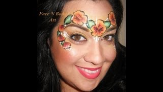 Hibiscus Crown Face Painting Tutorial