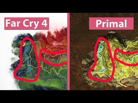 Far Cry 4 vs. Primal – World Maps & Landscape Comparison