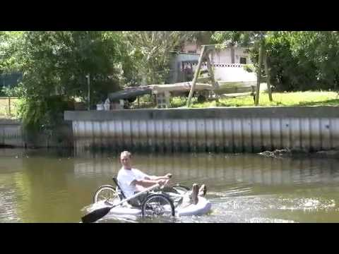 Bike boat ultimate human powered vehicle