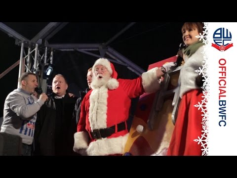 DECEMBER 7 | Neil Lennon switches on the Bolton Christmas lights
