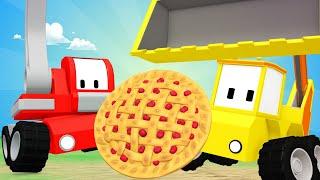 Tiny Trucks - Master class - Kids Animation with Street Vehicles Bulldozer, Excavator & Crane