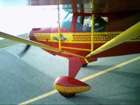 Taxi & Takeoff 1946 Taylorcraft BC12D-85