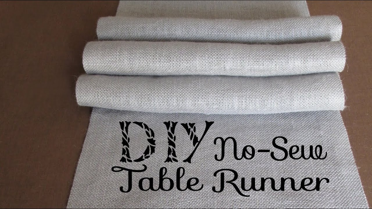 diy no sew burlap table runners diy wedding home decor youtube. Black Bedroom Furniture Sets. Home Design Ideas