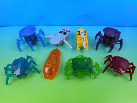 2014 HEXBUGS SET OF 8 McDONALD'S HAPPY MEAL KID'S TOY'S VIDEO REVIEW
