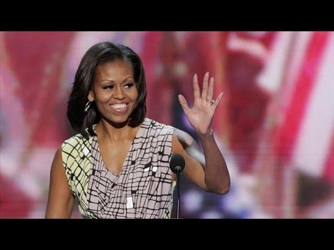 DNC 2012: Michelle Obama Aims to Show Husband s Softer Side