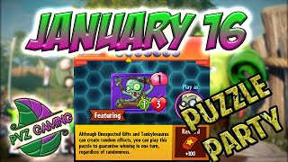 PvZ Heroes: Puzzle Party [January 16th] - Daily Challenge 01/16/2019