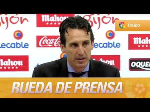 Rueda de prensa de Unai Emery tras el Sporting de Gijón (2-1) Sevilla FC