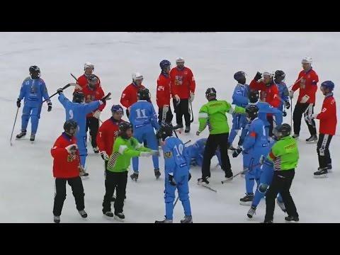 ❋Сомалийцы начали рубить чехов клюшками❋Потасовка в матче между сборными Чехии и Сомали❋