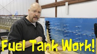 RV-10 Wings - 048 - Working on fuel tank