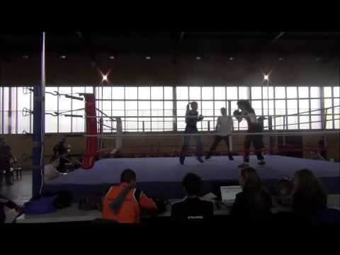 Gala Savate Cournon 2014 - POULE 2 F60 - SICLET Flavie vs DJORDJEVIC Alexandra Image 1