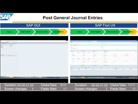 Experience Transformation with SAP Fiori UX – Post General Journal Entries