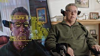 Quadriplegic Man Operates Wheelchair With His Face
