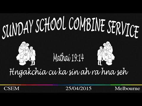 2015 Melbourne Sunday School Combine service