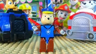PAW PATROL TOYS Nickelodeon opening Blocks Set Chase kids video Щенячий патруль конструктор