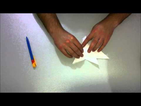 Cmo hacer un avin de combate F15 de papel origami / How to make an F15 Jet Fighter Paper Plane