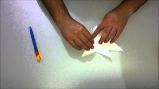 Cómo Hacer Un Avión De Combate F15 De Papel Origami / How To Make An F15 Jet Fighter Paper Plane