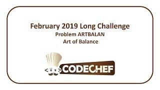 CodeChef February Long Challenge - Art of Balance (ARTBALAN)