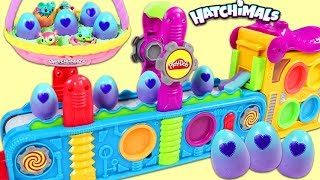 Magic Play Doh Mega Fun Factory Playset Makes Hatchimals Surprise Eggs!