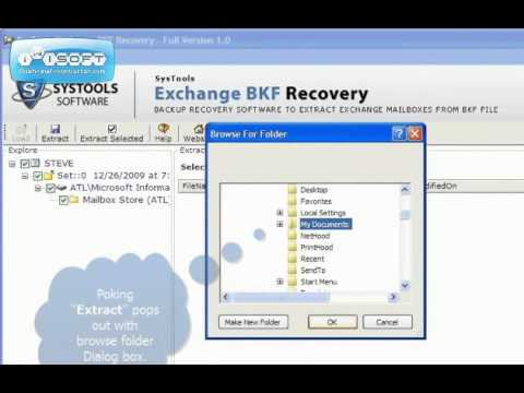Exchange Server Backup Recovery