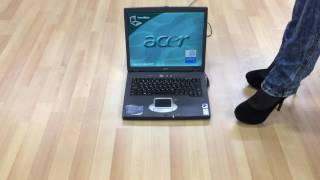 Girl crush laptop with sexy high heels part 1