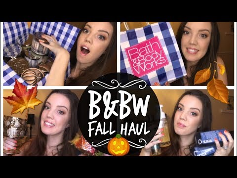 HUGE BATH & BODY WORKS HAUL | Fall Candles & More! | NessaLee