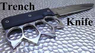 How to make a Trench Knife / Как сделать нож кастет