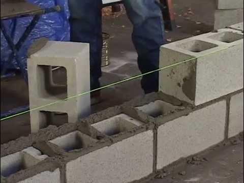 Как сделать кладку из керамзитобетонных блоков своими руками 90